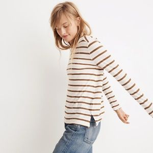 Madewell Long-Sleeve Tee in Myers Stripe Size S